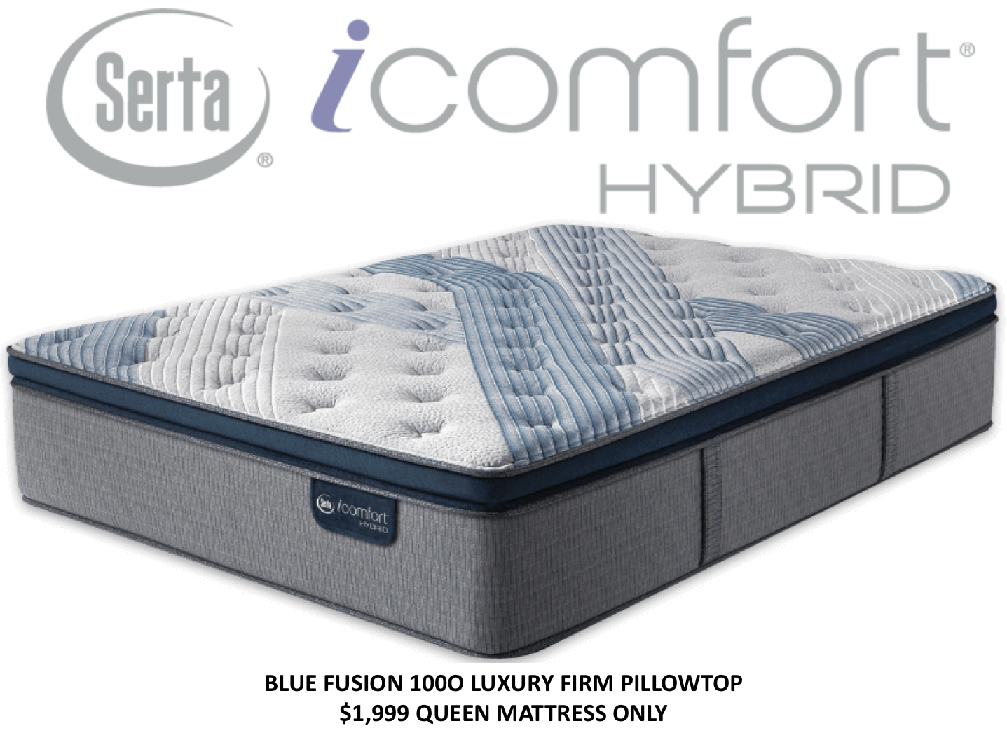 Blue Fusion 1000 Luxury Firm Pillowtop